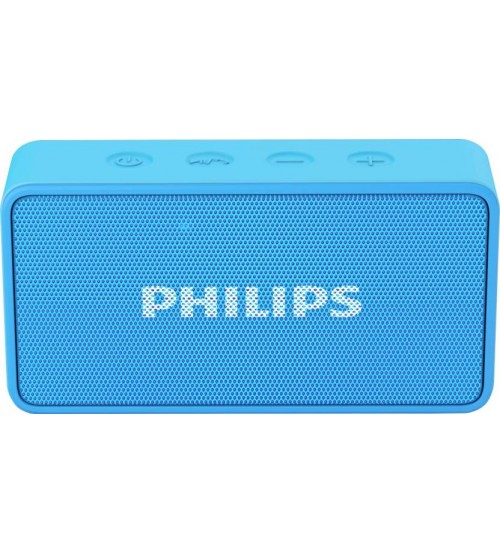 Philips BT64A/94 Bluetooth Speaker, Wireless, Portable, Blue